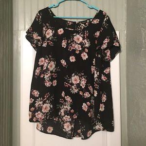 torrid Tops - Torrid black floral blouse 0 XL